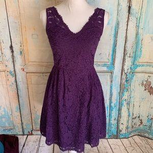 Beautiful lacy purple dress